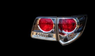 Car taillights, technology that separates from the background
